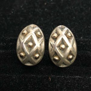Retired James Avery Spanish Lattice Earrings